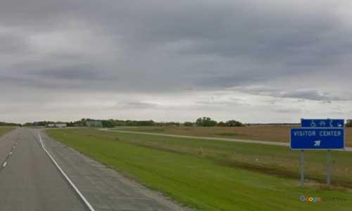 nd interstate 29 north dakota i29 elm river welcome center mile marker 100 southbound off ramp exit