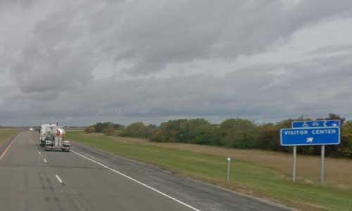 nd interstate 29 north dakota i29 elm river welcome center mile marker 99 northbound off ramp exit