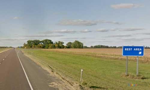 nd interstate 29 north dakota i29 lake agassiz rest area mile marker 3 northbound off ramp exit