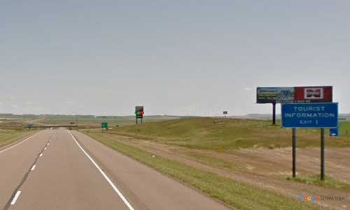 nd interstate 94 north dakota i94 beach welcome center mile marker 1 eastbound off ramp exit