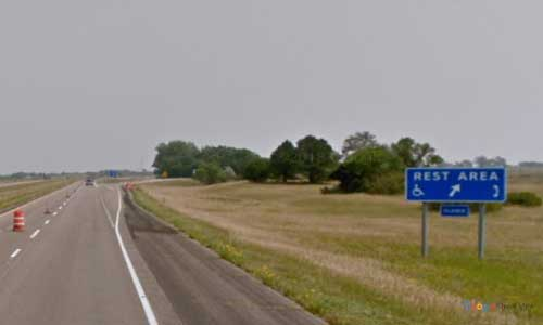 nd interstate 94 north dakota i94 crystal springs rest area mile marker 221 eastbound off ramp exit