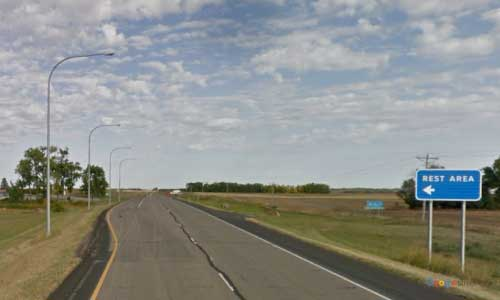 nd us route 2 north dakota us2 crary heftie rest area mile marker 227 eastbound off ramp exit