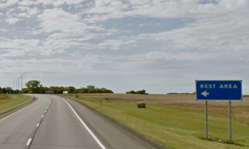 nd us route 2 north dakota us2 crary heftie rest area mile marker 227 westbound off ramp exit