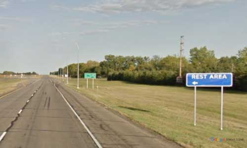 nd us route 2 north dakota us2 larimore rest area mile marker 330 eastbound off ramp exit