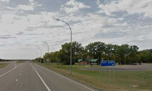 nd us route 2 north dakota us2 larimore rest area mile marker 330 westbound off ramp exit