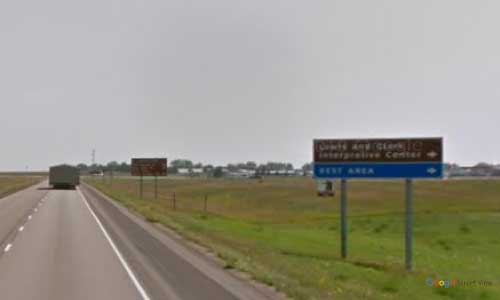 nd us route 83 north dakota us83 lewis and-clark center rest area mile marker 128 eastbound off ramp exit