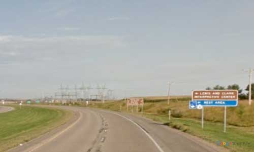 nd us route 83 north dakota us83 lewis and-clark center rest area mile marker 128 westbound off ramp exit